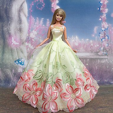 USD $ 5.99 - Barbie Doll Butterfly Fairy Black Bow Pattern Princess Dress, Free Shipping On All Gadgets!