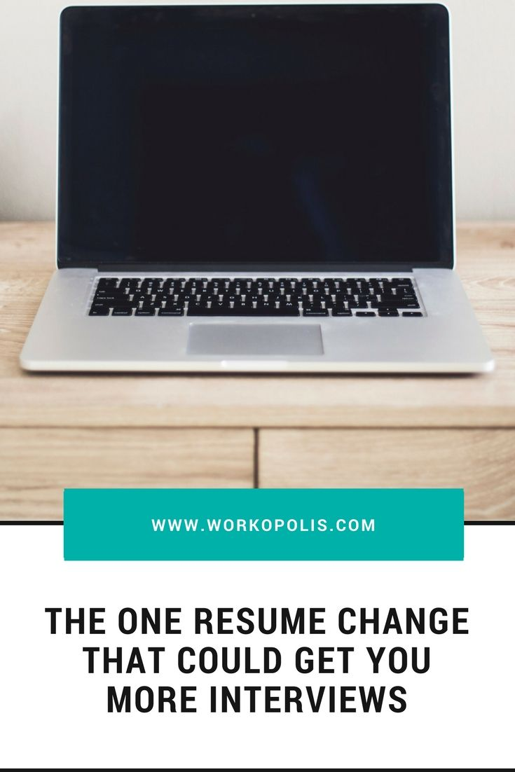 This 1 resume change can get you