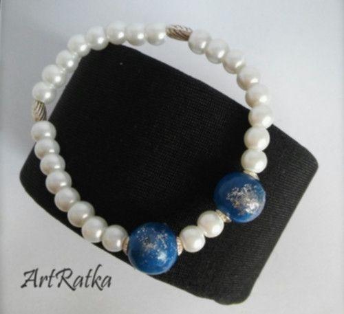 Bransoletka -koraliki szklane - ArtRatka - Biżuteria