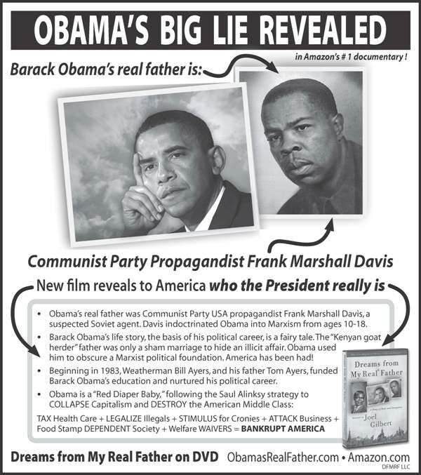 New York Post ad exposes Obama's 'real father' -- After rejection by USA Today, Washington Post, New York Times