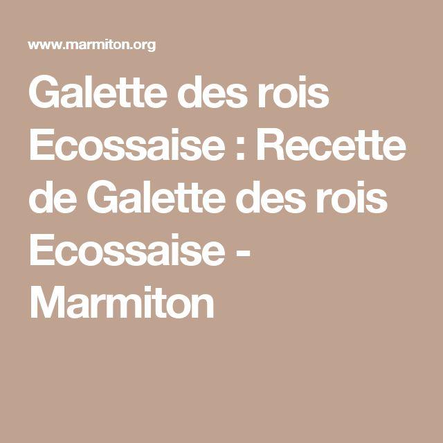 Galette des rois Ecossaise : Recette de Galette des rois Ecossaise - Marmiton