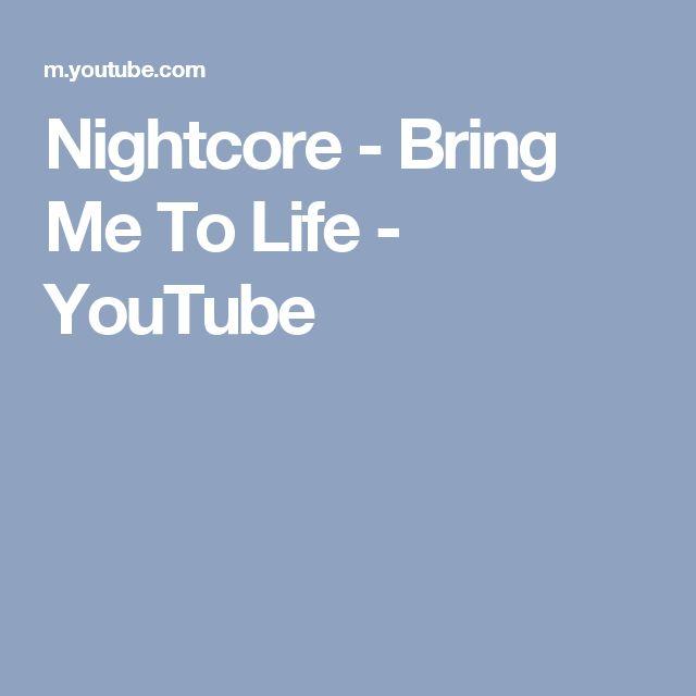 Nightcore - Bring Me To Life - YouTube