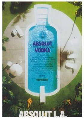 ABSOLUT L. A. - Los Angeles - (Absolut Vodka Sweden - Indoor Advertising - Max-Racks-Card from Japan)