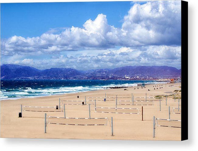 Beach Canvas Print featuring the photograph Beach Volleyball Nets by Joseph Hollingsworth