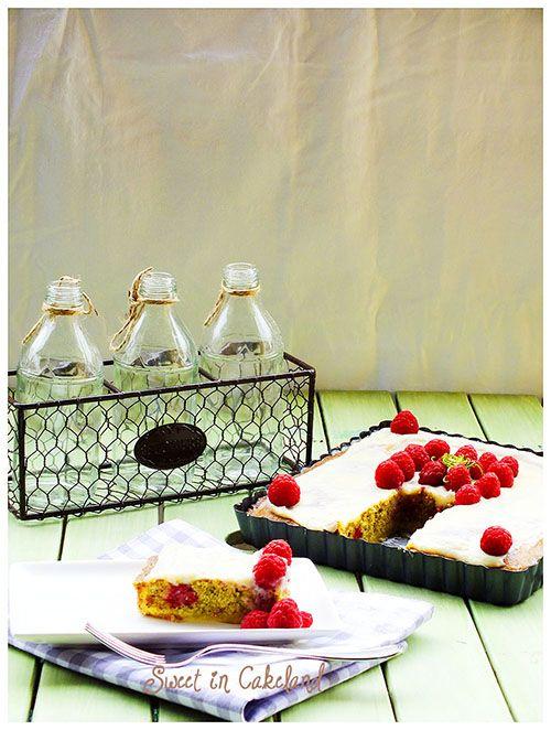 #crostata #lamponi #crema #cioccolatobianco @pistacchi