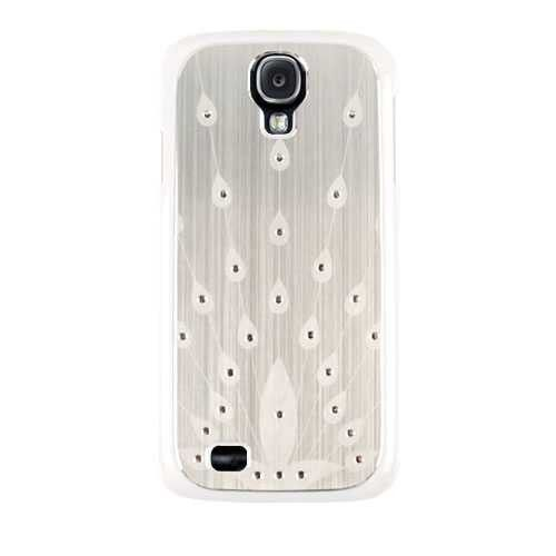 Unlimited Cellular Novelty Case for Samsung Galaxy S4 (Silver with Peacock Design)