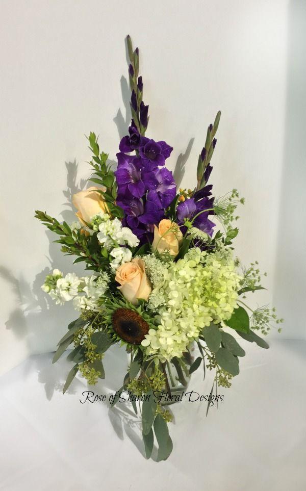Rose and Gladiolus Arrangement, Rose of Sharon Floral Designs