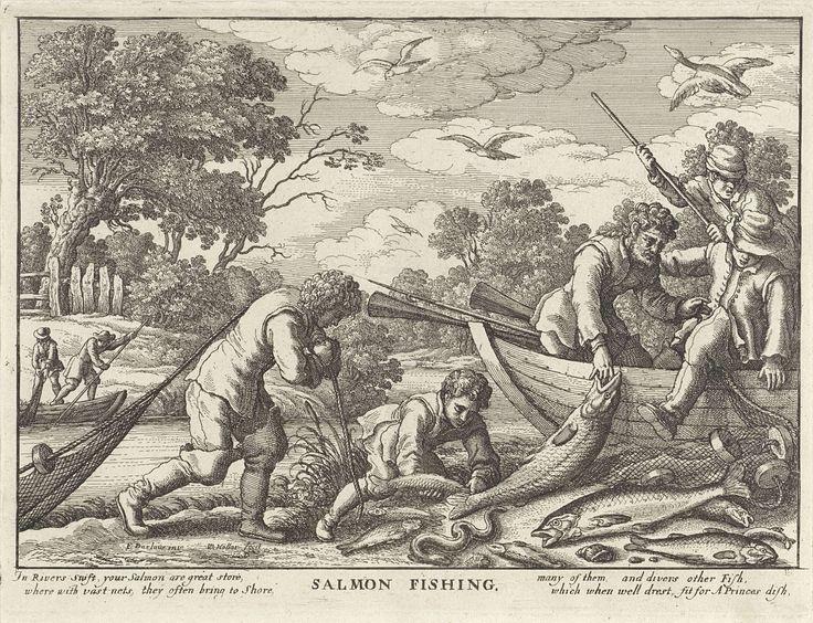 Wenceslaus Hollar | Zalmvisserij, Wenceslaus Hollar, John Overton, 1671 |