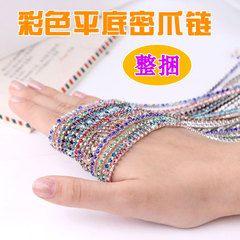 Цветные стеклянные камни плотные коготь коготь цепочки алмазов свадьба обувь, аксессуары для волос телефон оболочки DIY материал