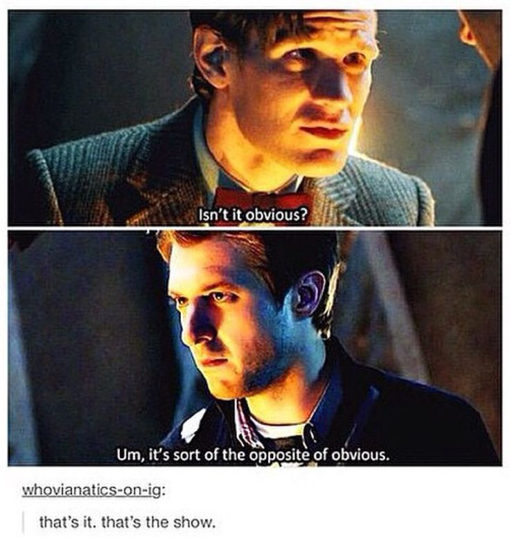 The very definition of Doctor Who