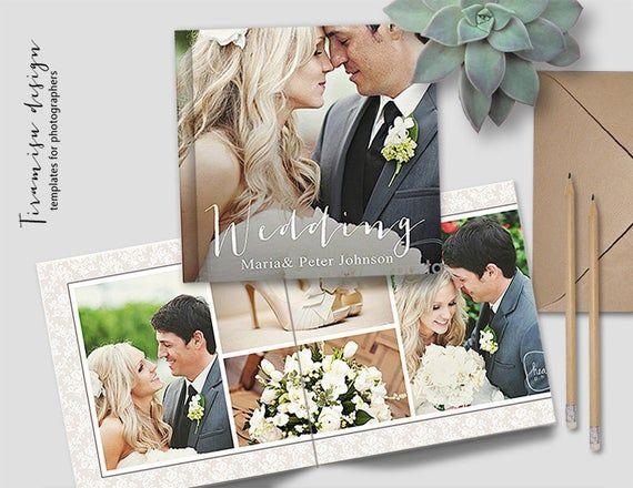 Boda Album Plantillas De Photoshop Plantillas De Album De Etsy Wedding Photo Albums Wedding Album Photo Book