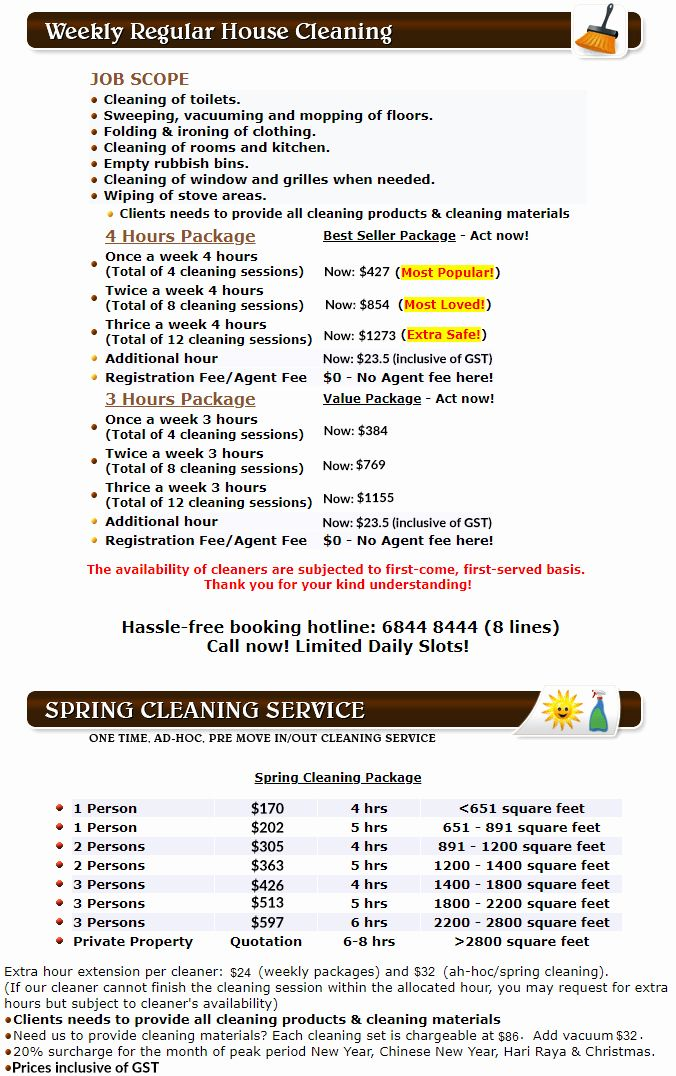40 Home Cleaning Services Price List In 2020 Cleaning Services