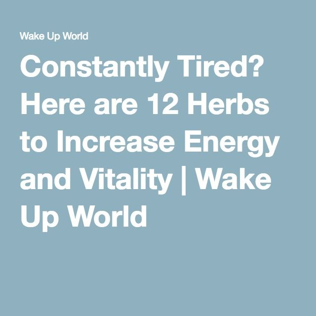 Constantly Tired? Here are 12 Herbs to Increase Energy and Vitality   Wake Up World