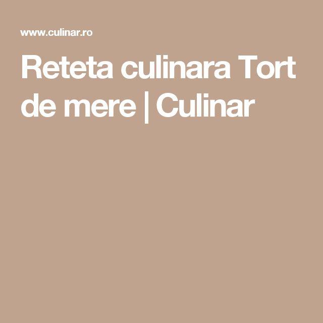 Reteta culinara Tort de mere   Culinar