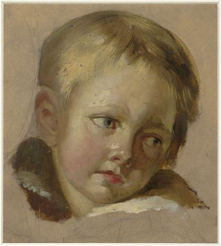 Schets van een kinderkopje met lichtblond haar, attributed to Louis-Léopold Boilly, 1771 - 1845