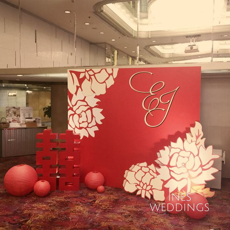 Modern Wedding Backdrop Ideas: Modern Chinese Backdrop 中國風舞台設計