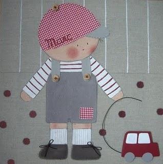 Cuadro infantil personalizado niño coche: para Marc