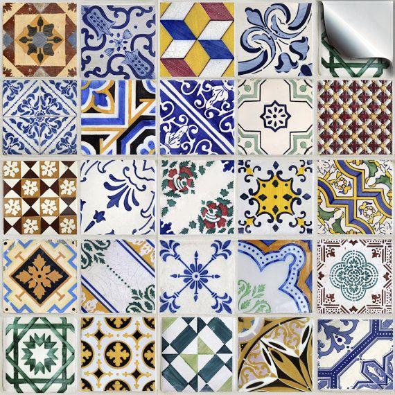 Lot de divers mosaïque traditionnelle tuile stickers autocollants--(TP 52)--cuisine carrelage / tuile transferts – prix direct usine, sans intermédiaire