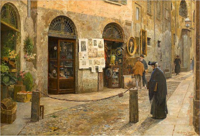 Via San Bernardino in Milano, 1912, Arturo Ferrari. Italian (1861 - 1932)