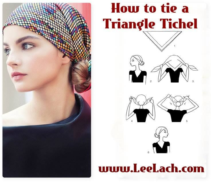 How to tie a triangle tichel, easy as 1.2.3. super easy and simple!! goodlcuk! #bandanna #tichel #modestfashion