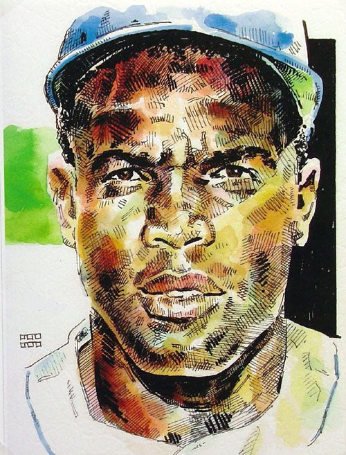 Jackie Robinson Brooklyn Dodgers Limited Edition Print Jackie Robinson Dodgers Dodgers Girl