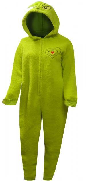 151461520 Dr Seuss Grinch Small Heart One Piece Pajama