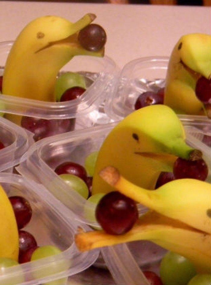 Leuke dolfijntraktatie van banaan!