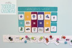 Toddler calendar! This is EXACTLY what i have been looking for! I am starting this project immediately.