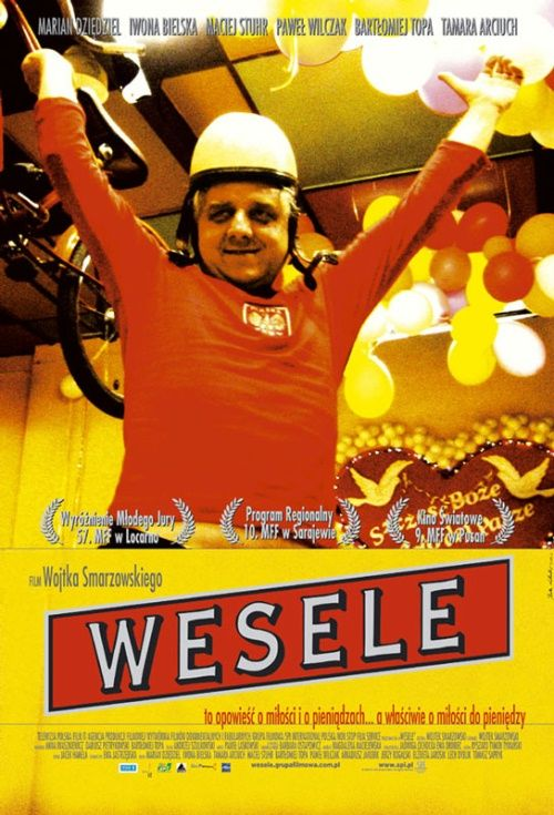 """WEDDING.""""If no-one gets thrashed, a wedding's a failure"""" says the priest in the film. Against the backdrop of the wedding of the pregnant daughter of a rich villager who marries her off to a man who agrees to take her for his wife in exchange for a modern sports car, Smarzowski drew a caricature of Polish society and all its national sins."""
