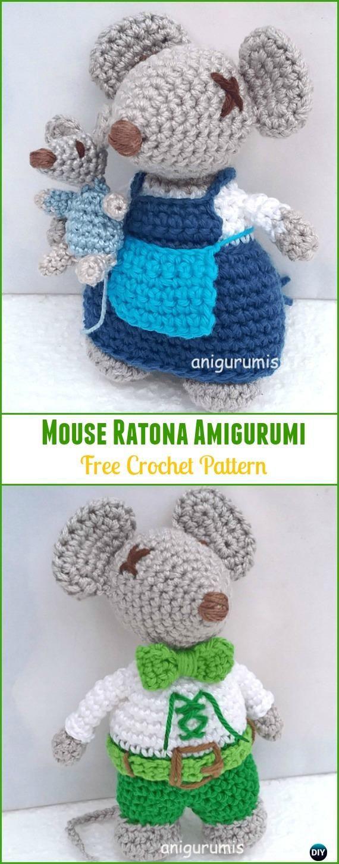 Crochet Mouse Ratona Amigurumi Free Pattern - Amigurumi Crochet Mouse Toy Softies Free Patterns
