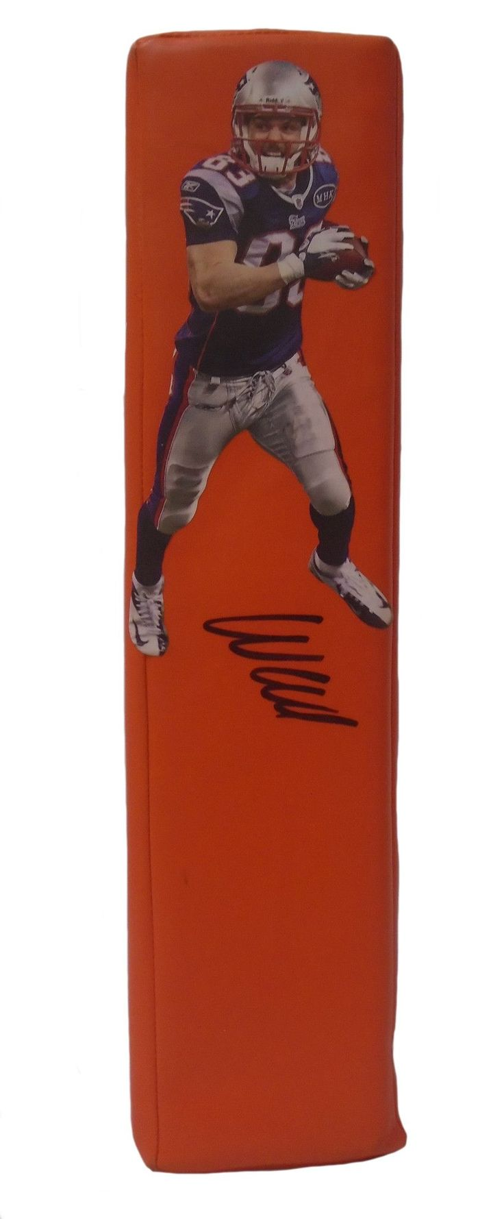 Wes Welker Autographed New England Patriots Football End Zone Touchdown Pylon, Proof