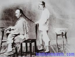 The Manchu Hairstyle- the Manchu Hairstyle meant that the men had to shave off their front side of their hair and leave a long braided back called the Queue.