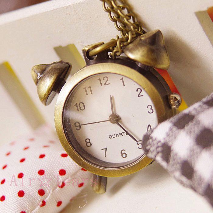 Стальной алхимик 10 шт. / lot Wholesal ретро компактный сигнализация часы карманные часы ожерелье цепь N088
