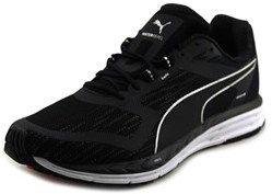 Puma Speed 500 Ignite Nightcat Men Round Toe Synthetic Black Running Shoe.