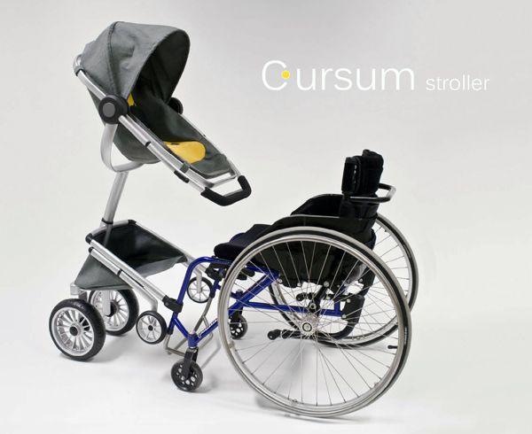 Cursum - Wheelchair Adapted Stroller by Cindy Sjöblom