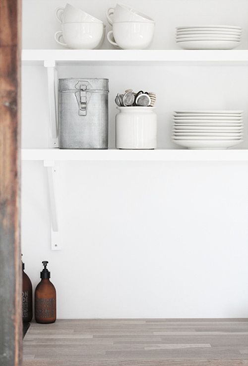open kitchen shelves vs closed cabinets | the style files