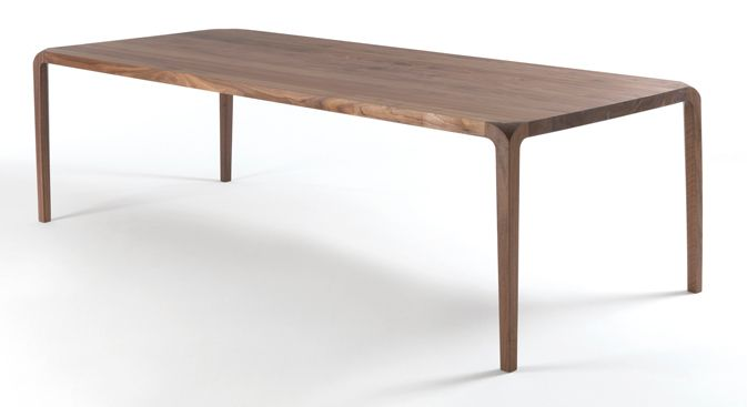 The Sleek dining table is Italian made and designed by reknowned NY designer…