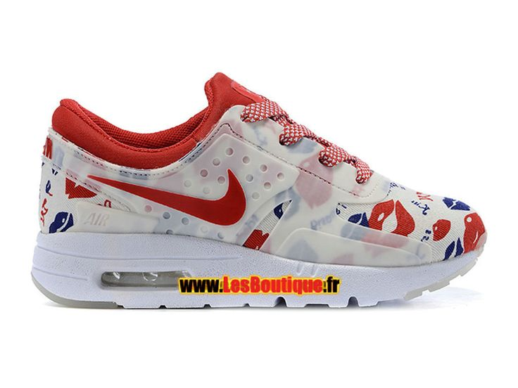 Nike Air Max Zero Premium PS - Chaussure Nike Sportswear Pas Cher Pour Petit Fille (Taille 28-35) Marine/Rouge défi/Blanc 789695-005E
