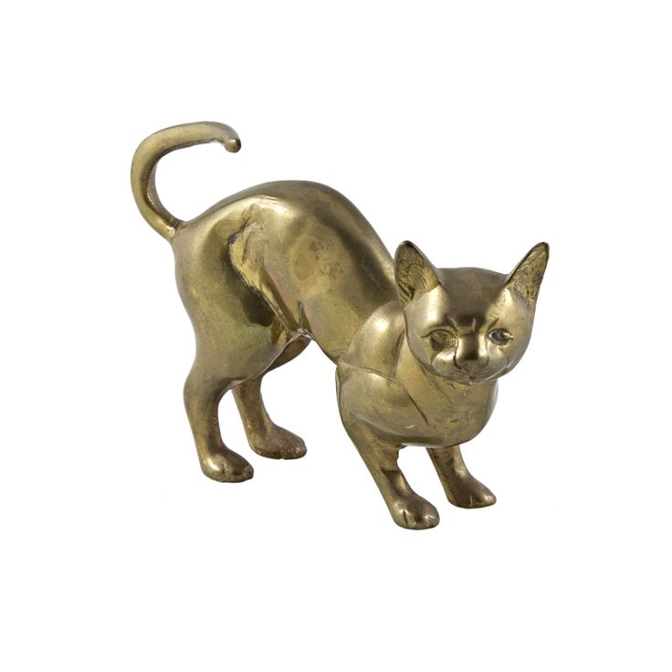 Brass cat from IdeaVintage
