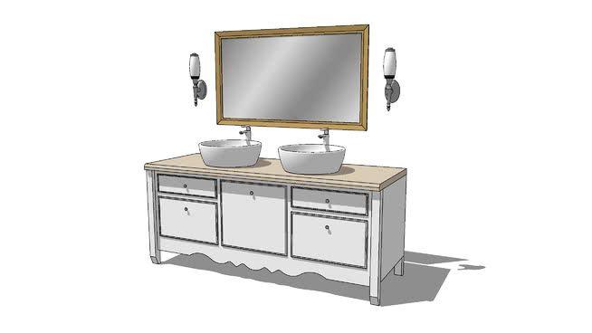 Large Preview Of 3d Model Of Bathroom Vanity Bathroom Vanity Vanity Bathroom