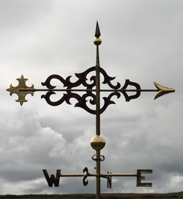 Copper Scroll Banner Weathervane