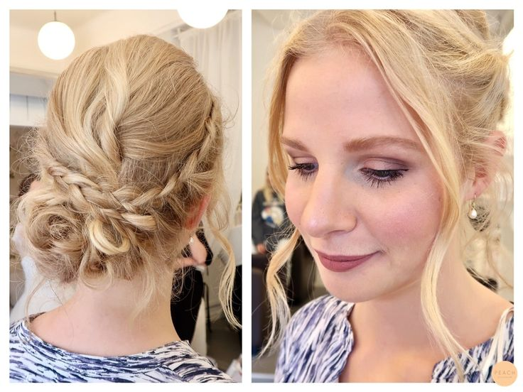 Romantic updo with braids