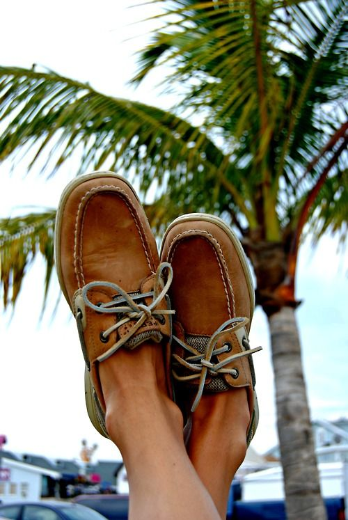 sperrys at the beach