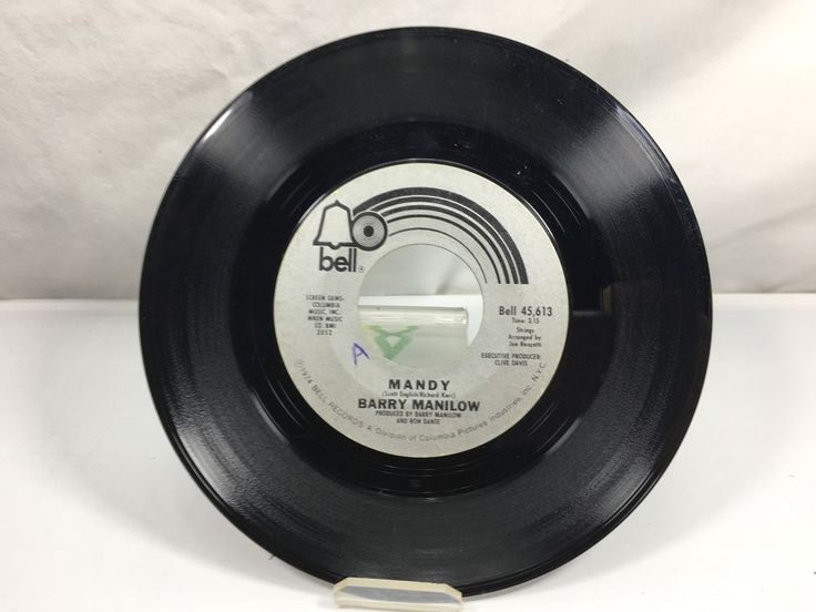 Mandy Barry Manilow Bell Records 45 RPM  #SoftRock