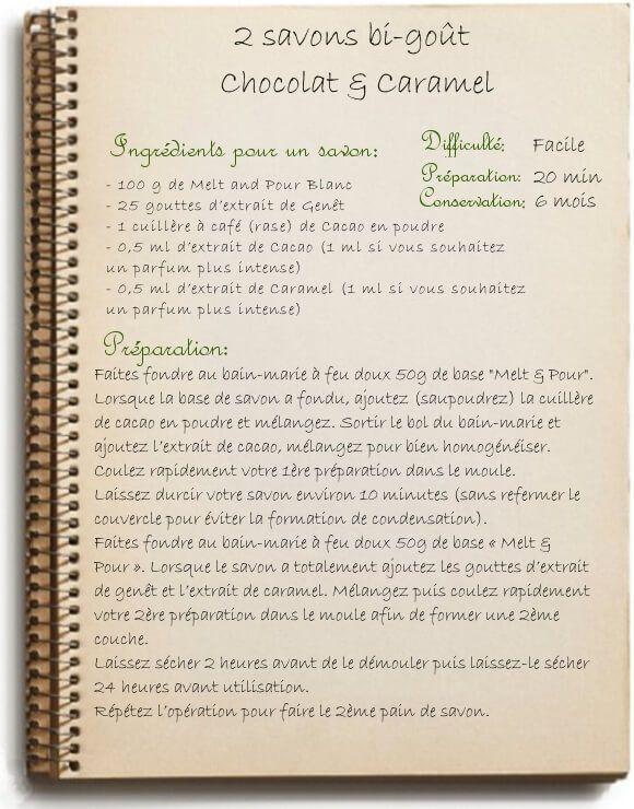 Fabriquer son savon maison: recette au cacao et caramel