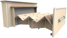 Built-In Roll Out Bed Construction Plan Actually this could go into any house for more added space if you have company!!