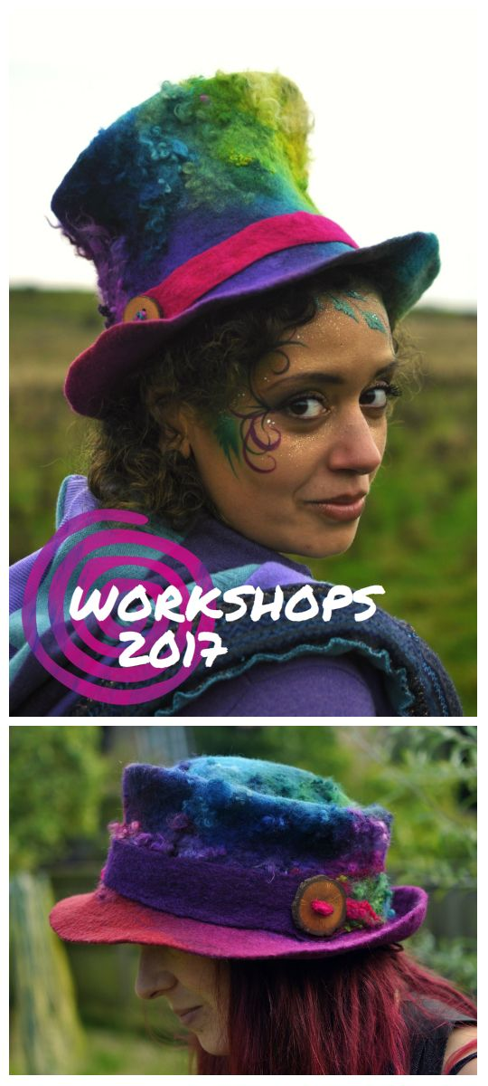 A two day intensive felted hat making course in the heart of Glastonbury town.  Working with hand dyed wools including merino, blue faced leicester and teeswater fleece curls, you will learn about template design, shading colours, felting in curls, hand fulling, and professional finishing techniques.  DATES AVAILABLE  4th & 5th March 1st & 2nd April 29th & 30th April  🌟 Places are strictly limited to 5 per class 🌟  To reserve your place please email innerspirals@gmail.com