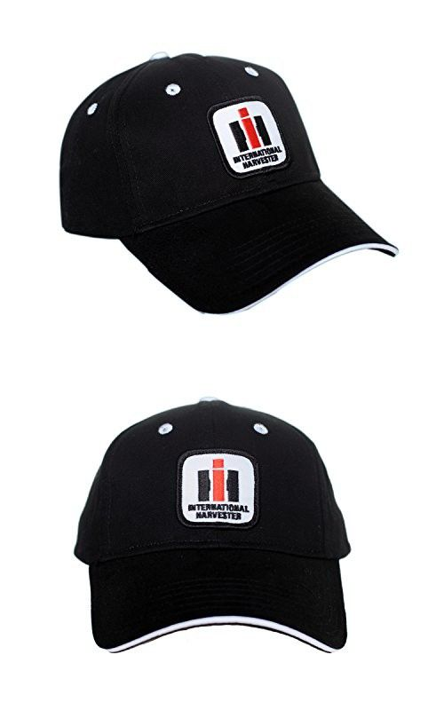 b665a29f International Harvester IH Logo Hat, black with white accents ...