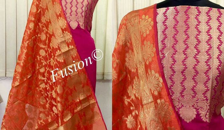 Banaras Yolk Suits | Buy Online Banaras Yok Suits | CityFashions  http://ift.tt/2rOjtt5  Banaras Yolk Suits  -  Banarasi chanderi silk top in yolk design and Dupatta with silk salwar  http://ift.tt/2rOjsW3