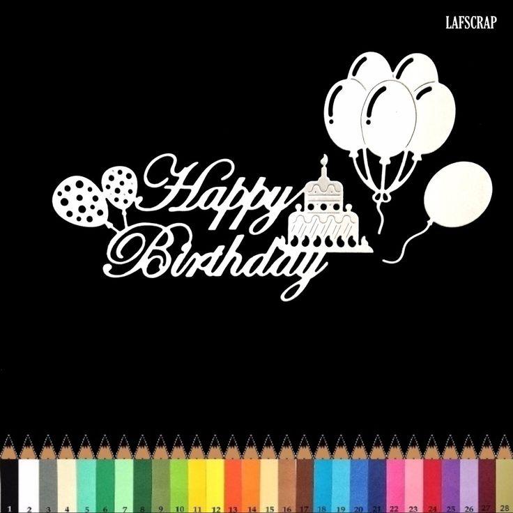lot découpes scrapbooking scrap mot joyeux anniversaire ballons gâteau bougie découpe papier embellissement die cut création